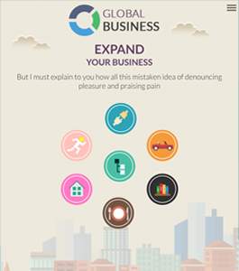 Global Brands Splash page by ScriptEvolve