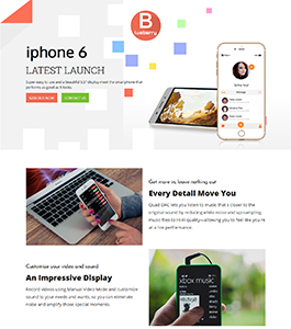 Mobile One Page by ScriptEvolve